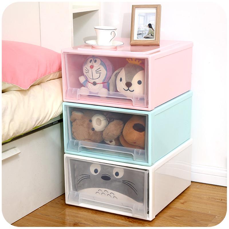 透明加厚收納箱抽屜式 家用塑料特大號衣櫃衣服儲物整理盒箱子