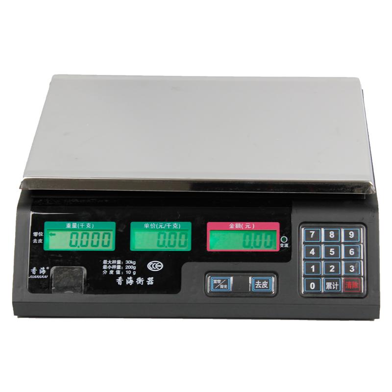 香海計價秤廚房秤電子秤台秤計價6kg電子稱30kg電子台稱