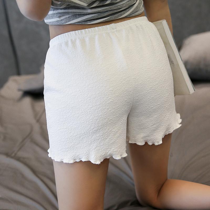 Women wear fashion inside and outside, anti light summer short pants, safety pants, traceless safety pants, and can wear Ruffle outside
