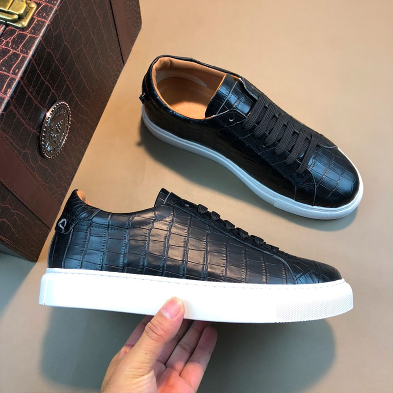 20 summer new European and American fashion mens shoes genuine leather stone print lace up thick soled leisure youth low top board shoes