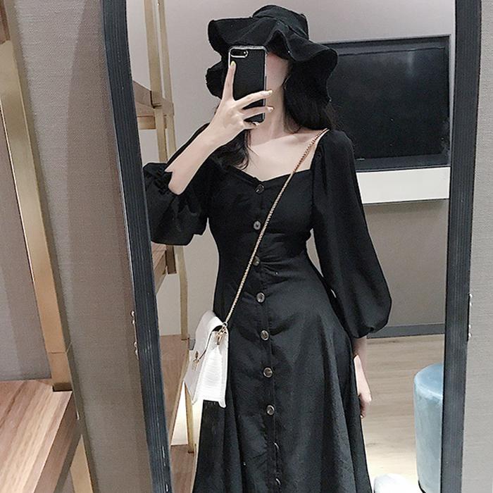 券后69.00元2019新款智熏法式收腰显瘦小连衣裙