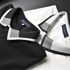 尖货细致配色螺纹夏天polo衫短袖衫
