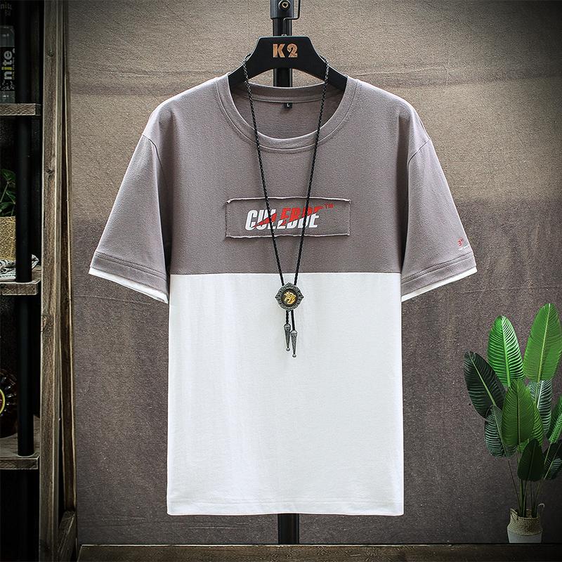 男士短袖t恤衣服潮牌潮流純棉白色半袖男裝2020新款夏季寬松體恤