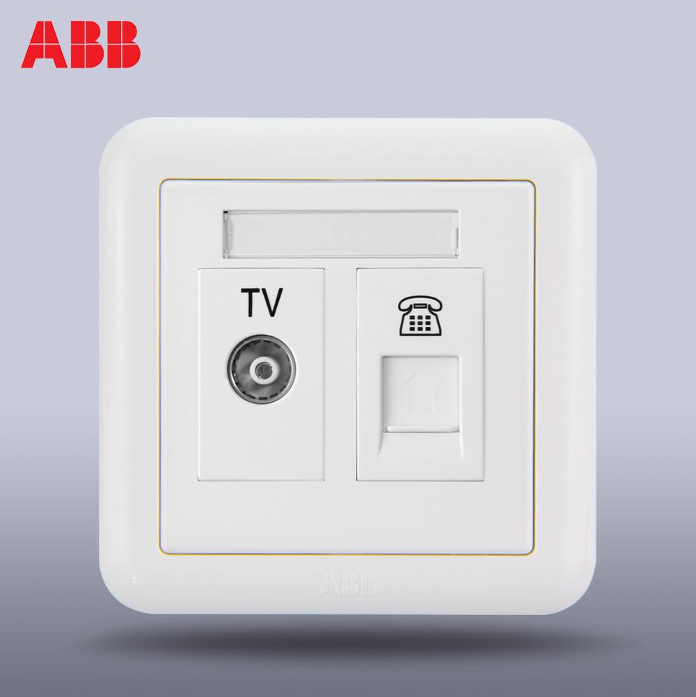 ABB переключатель Розетка панель ABB переключатель Разъем ABB Dejing двухканальная телефонная розетка AJ324