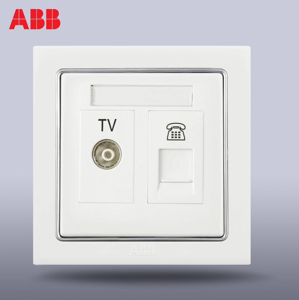 ABB переключатель Розетка панель ABB переключатель Разъем ABB Dening 2 / TV телефонная розетка AN324