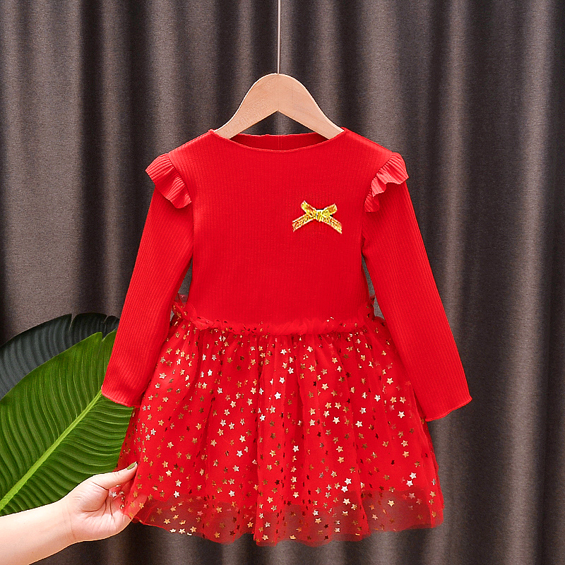 女童连衣裙2020秋季新款韩版儿童秋装裙子童装纱裙洋气女孩公主裙