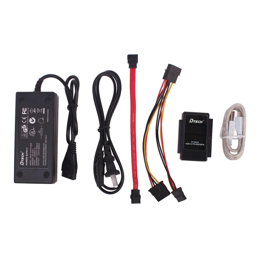 帝特 易驅線USB轉IDE SATA硬盤轉換轉接器多接口 外接三硬盤光驅