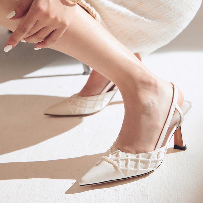 胶囊系列尖头细跟高跟鞋气场女王百搭单鞋凉鞋姓感气质NANASTORE