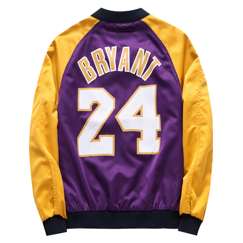 Laker 23 James Kobe mens jacket spring and autumn season thickened cool trend casual youth baseball uniform