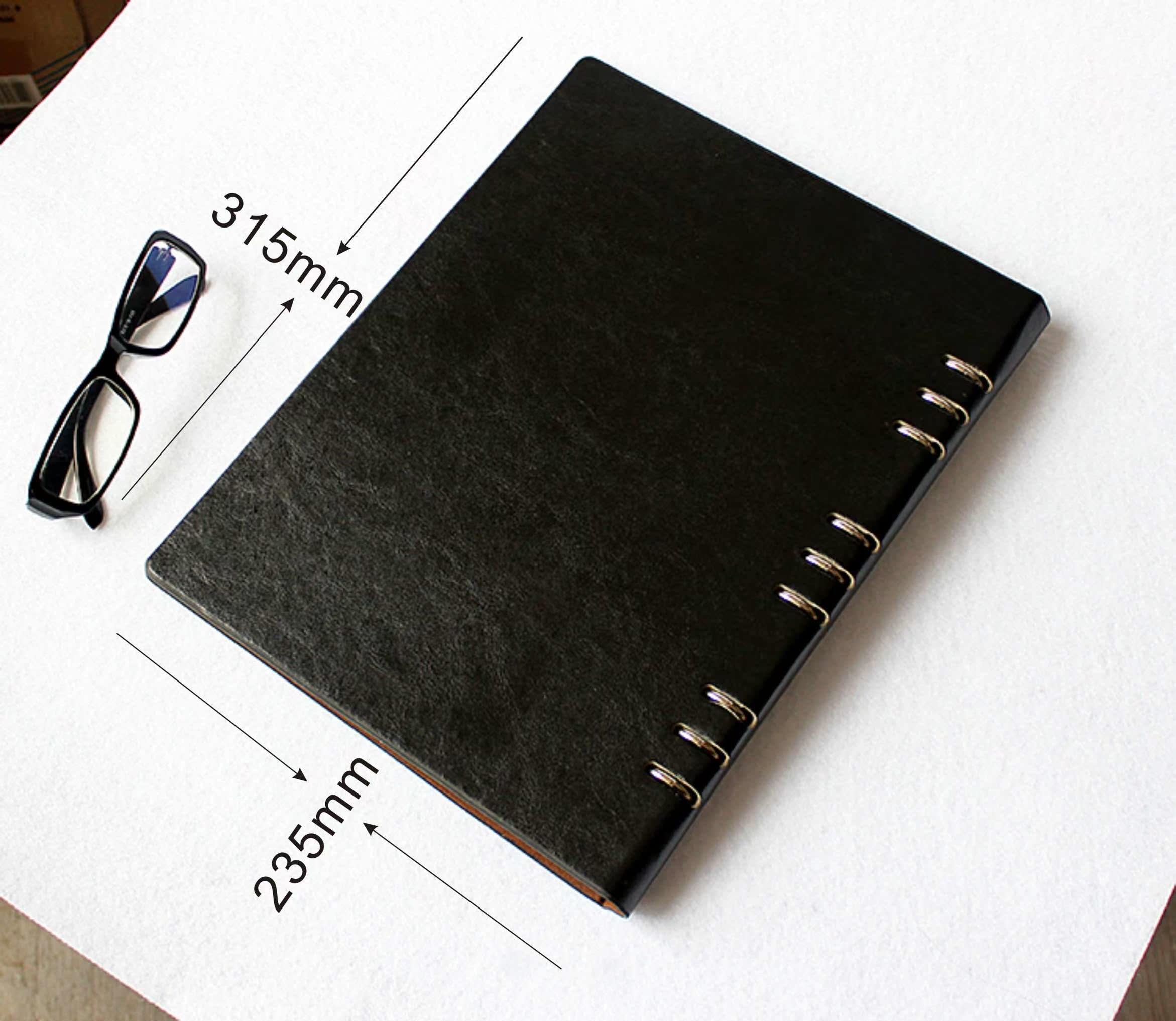 Leather notebook folder case loose-leaf notebook envelope A5B5A4 envelope