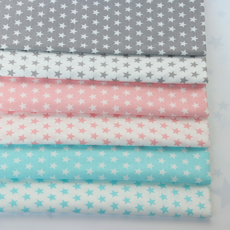 Small five pointed star cotton twill handmade cotton clothing curtain bed fabric processing promotion special price