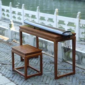 七韵古琴桌凳新款花梨木胡桃木琴桌