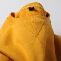 查看340g重磅厚实圆领长袖T恤卫衣叠穿纯色姜黄色纯棉白色男士上衣女价格