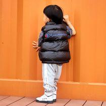新款秋冬女童羽绒马甲男童背心中大童加厚宝宝休闲羽绒服坎肩外套