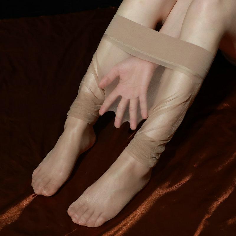 「限量新品」天生丝滑360度无缝3D超薄透明连裤袜无痕丝袜带脚型