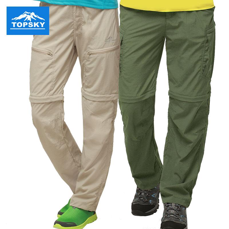 Topsky屋外速乾ズボンは男女の夏に2つの速乾ズボンの薄い運動を解体して登山のズボンのショートパンツに登ります。