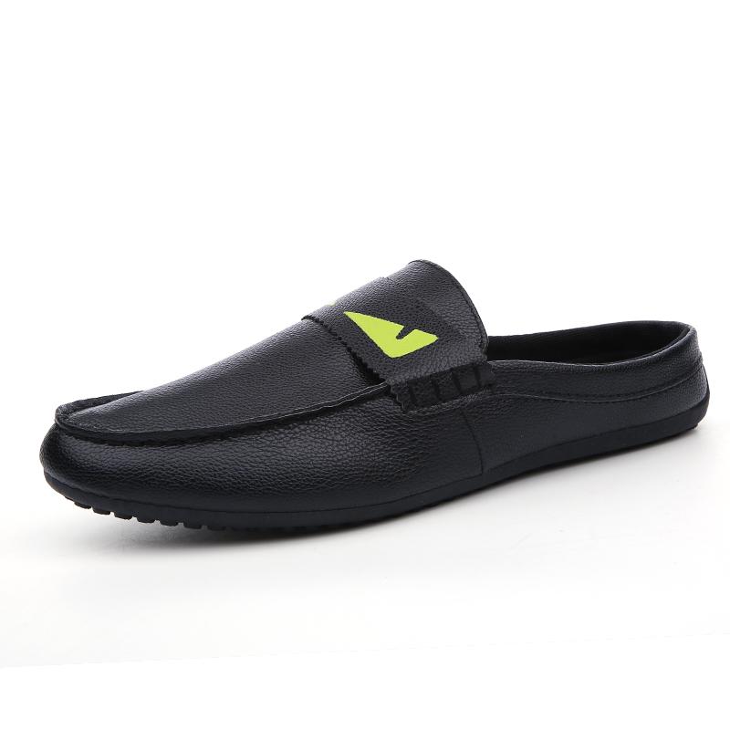 精神小怪獸 潮男鞋子社會小夥半拖鞋 鞋涼鞋懶人豆豆鞋