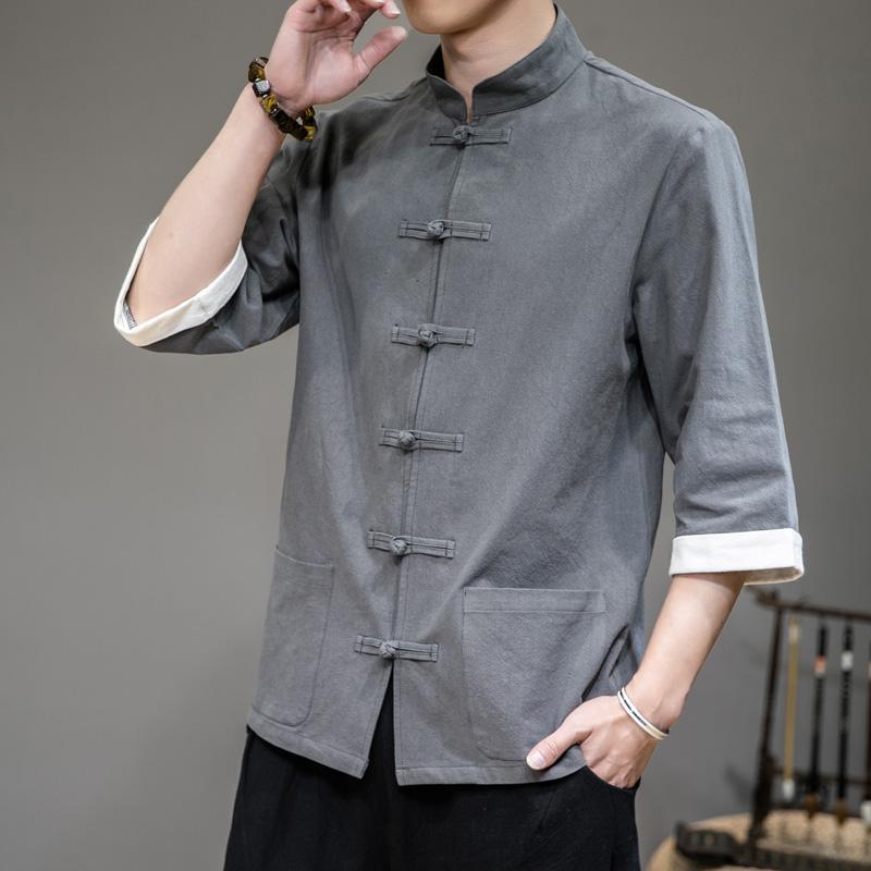 新中式spa养生馆技师服棉麻足疗足浴师工作服美容养生工作服衬衫