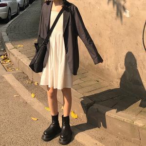 锈与骨 搭配了这期所有新品的冷灰西装 春秋休闲外套宽松女小西装
