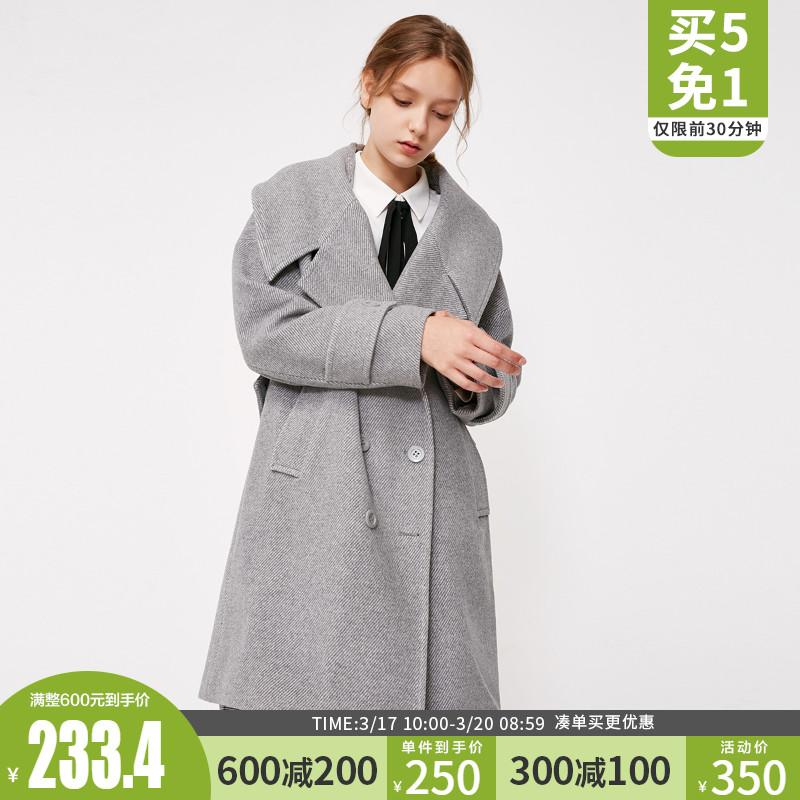10免3 vero moda春季新款毛呢大衣