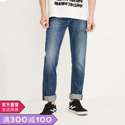 [新]JackJones杰克琼斯男装2019新款夏薄休闲牛仔长裤J 218232519