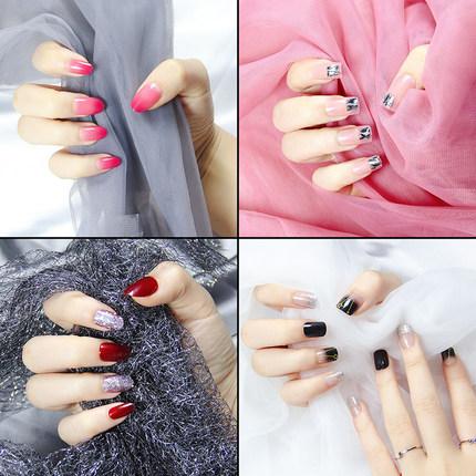 网红穿戴式想戴就戴美甲片指甲贴片假指甲可取可带美甲成品女拆卸