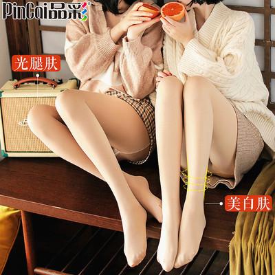 丝袜女春秋冬薄款防勾丝加绒光腿袜肉色神器中厚打底裤裸感连裤袜