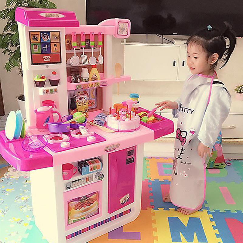 Ребенок живая домой домой моделирование кухня игрушка установите ребенок мужской и женщины ребенок повар рис сделать рис 3-6 лет музыка сочетание