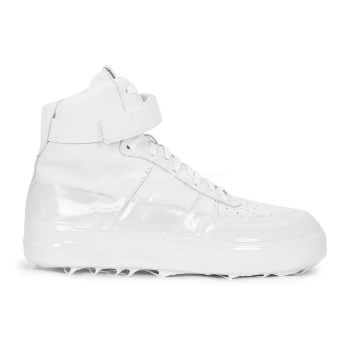 Mid season discount 19 autumn / winter 424 mens calf leather dissolved rubber sole ankle strap high top lace up sneaker