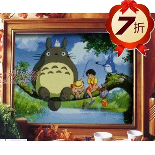 100 accurate printing 7 special discount roaming embroidery stitch Hayao Miyazaki animation Totoro unfinished