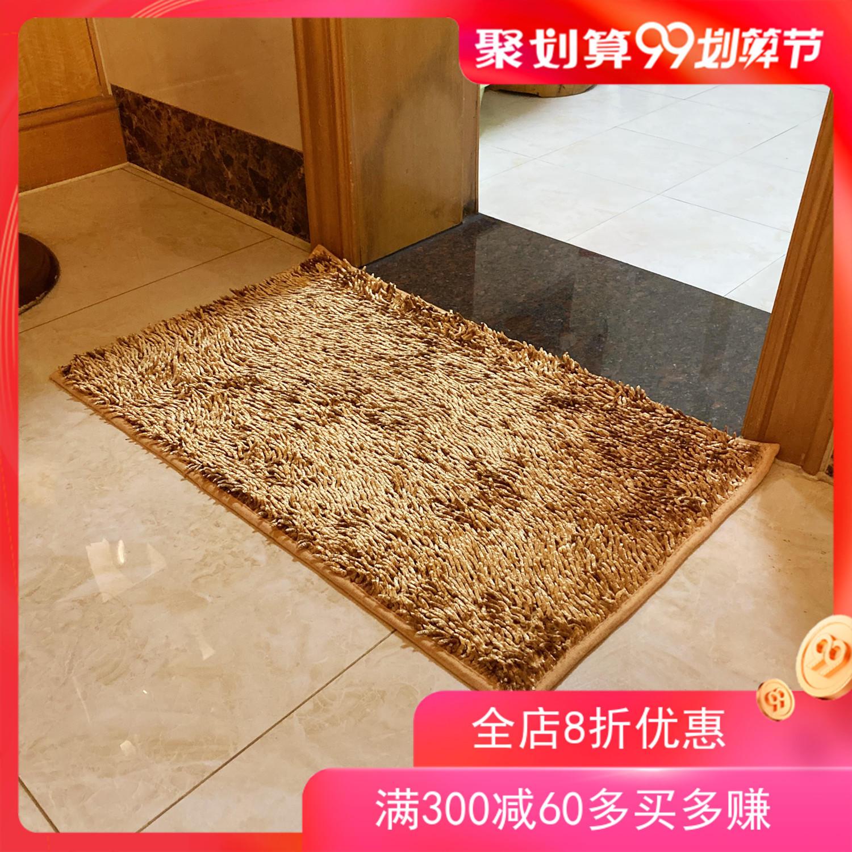 店家推荐新款亮光丝雪尼尔地垫防滑吸水脚垫家用韩式简约卫浴门垫