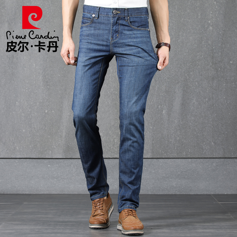 Pierre Cardin jeans spring and summer new style breathable men's pants straight tube loose business leisure elastic men's long pants