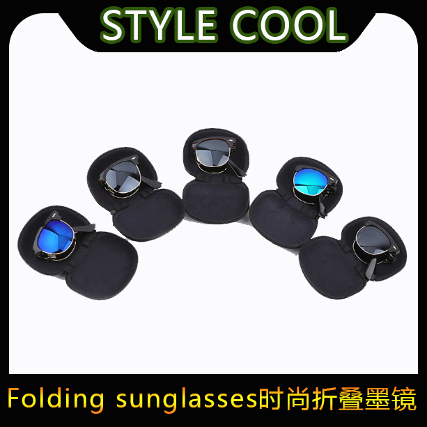 Folding Sunglasses portable glasses in European and American fashion with sunglasses