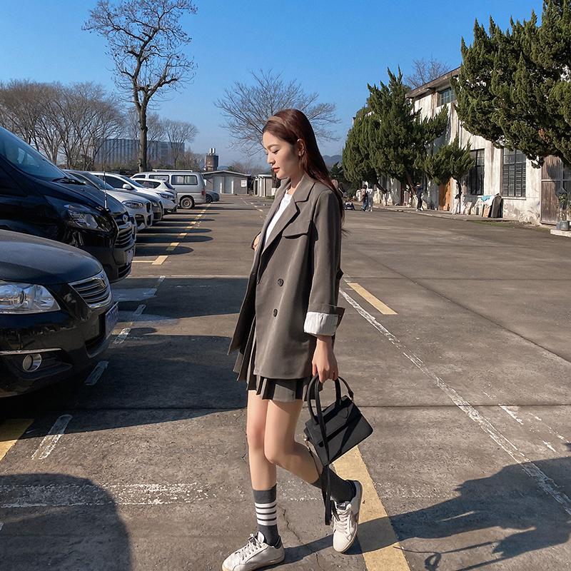 【减10】西装套装女春秋时尚小个子韩版气质英伦风学生裙子两件套