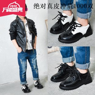2016 spring new style boys shoes British style black shoes children's shoes fashion children's shoes casual shoes show