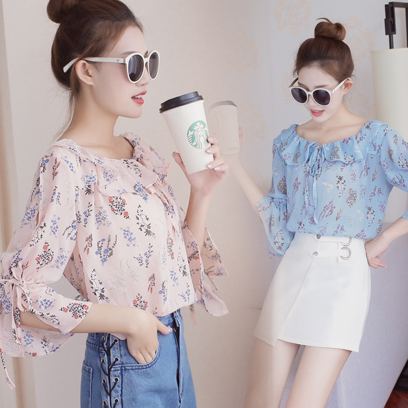 2018 large womens new fat sister loose chiffon shirt plus extra size 200kg summer off shoulder T-shirt