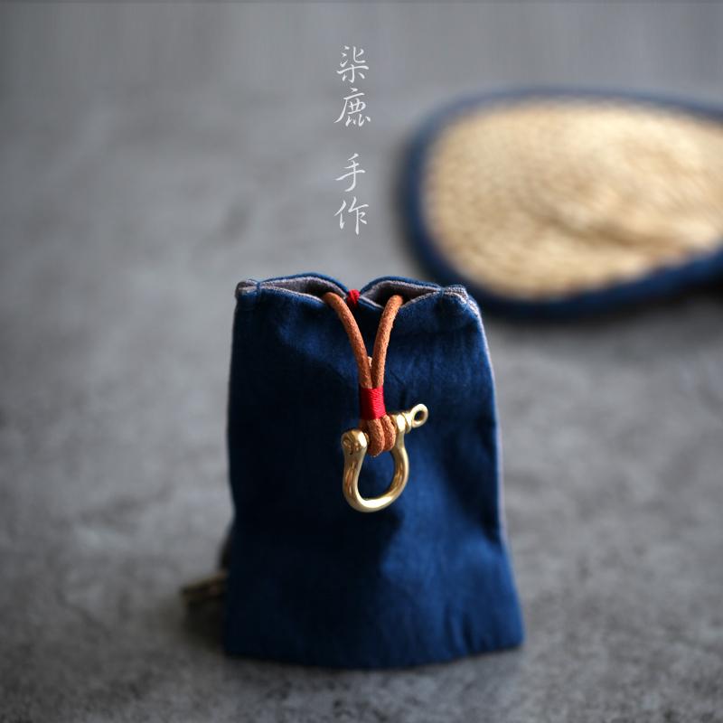 【柒鹿】原创手工复古钥匙包 创意手作礼品男女钥匙包抽拉式汽车