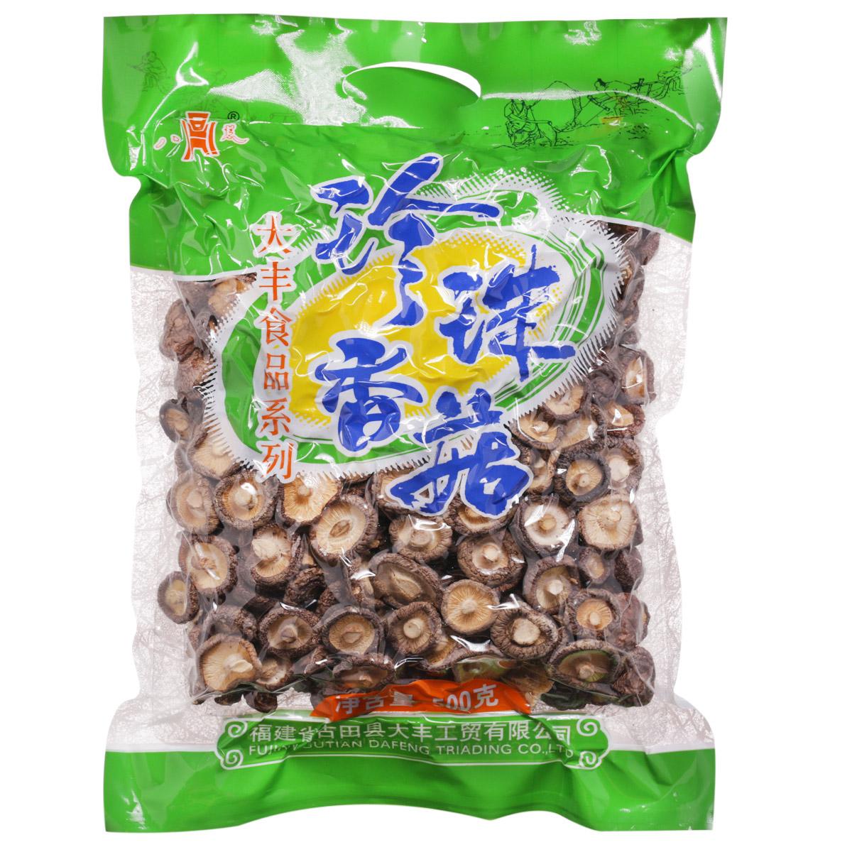 ~天貓超市~八荒香菇 500克 珍珠菇冬菇 小香菇 特級古田金錢菇