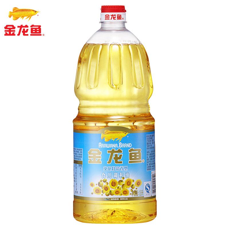 ~天貓超市~金龍魚 葵花籽清香型食用調和油1.8L 食用油
