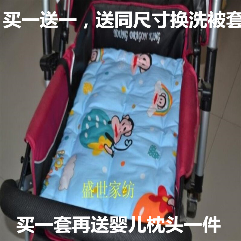 纯棉花婴儿推车垫通用棉花垫手工棉花垫褥婴手推车纯棉垫子包邮