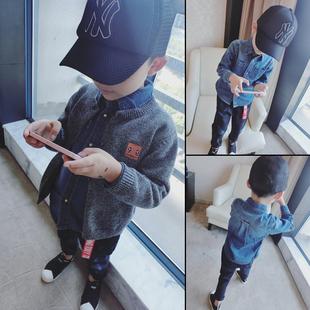 男童女童韩版 薄款 2020儿童衬衫 纯棉柔软牛仔衬衫 衬衣潮 宝宝长袖