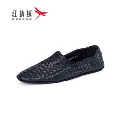 商场专柜同款红蜻蜓男鞋2020夏季新款休闲口袋鞋套脚羊皮编织鞋男
