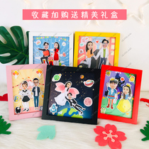diy three-dimensional photo album photo custom couple soft ceramic creative gift 520 Valentines day cartoon 3d swing table?