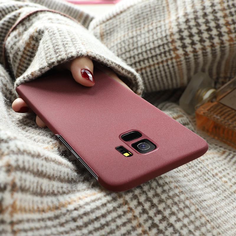 三星S8手机壳S9/s10磨砂S8Plus保护套曲面屏S7edge男s9plus女款s10plus简约纯色s9+全包防摔网红同款图片