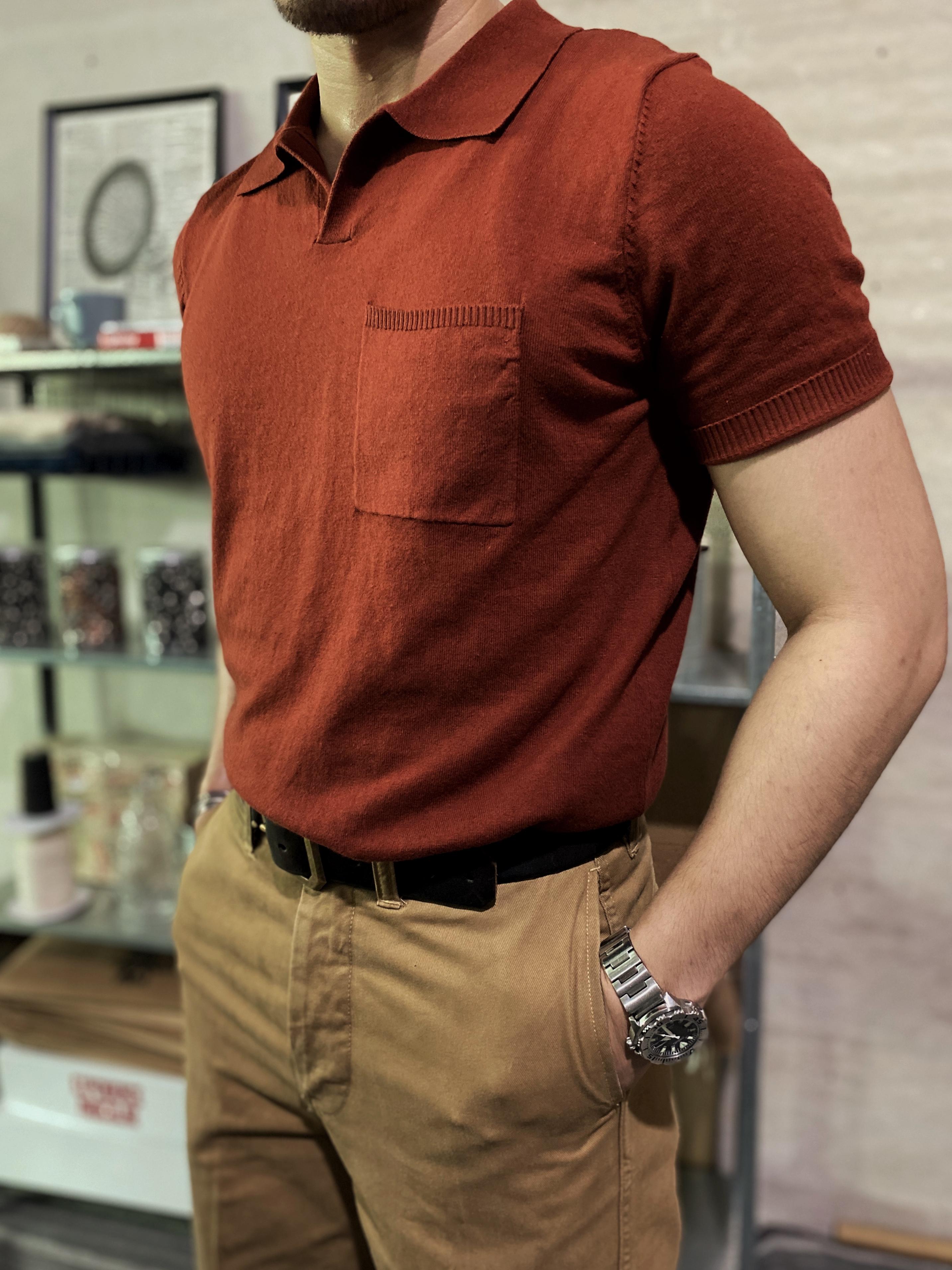 中國代購 中國批發-ibuy99 polo������ 柴米意式马球Polo衫knit shirt美式复古纯棉针织T恤阿美咔叽夏季
