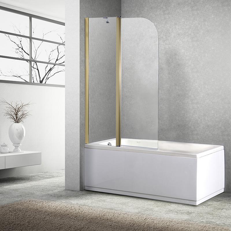 莱博顿折叠浴缸屏风整体淋浴房 浴缸浴室隔断卫生间玻璃干湿分离