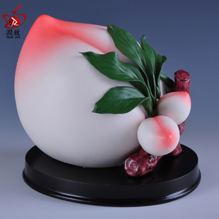Run the elderly caused by Yoshihisa birthday gifts birthday gifts to send their elders temple Decoration Ceramic Crafts peach