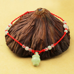 Package Passepartout mail manual national wind transport Pearl boys and girls fashion red rope anklet lovers