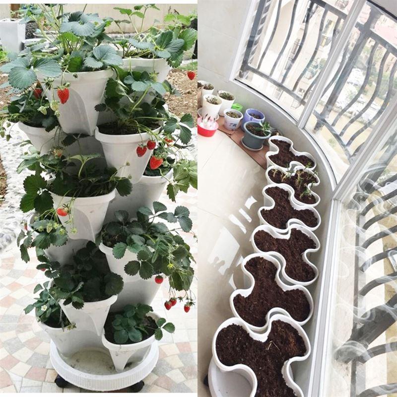 2018种植楼顶箱阳台菜园立体盆种菜多层立体神器设备种菜高脚花盆