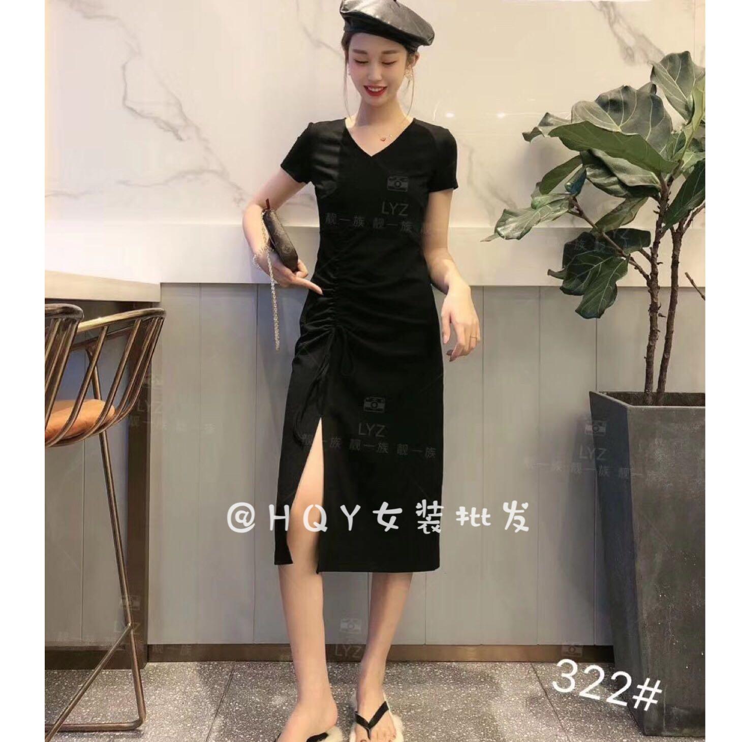 hqy 2019秋新款显瘦简约小女连衣裙热销11件有赠品